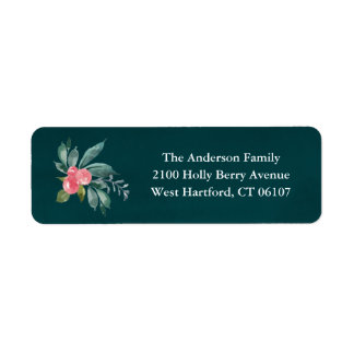 Floral Joy Return Address Labels