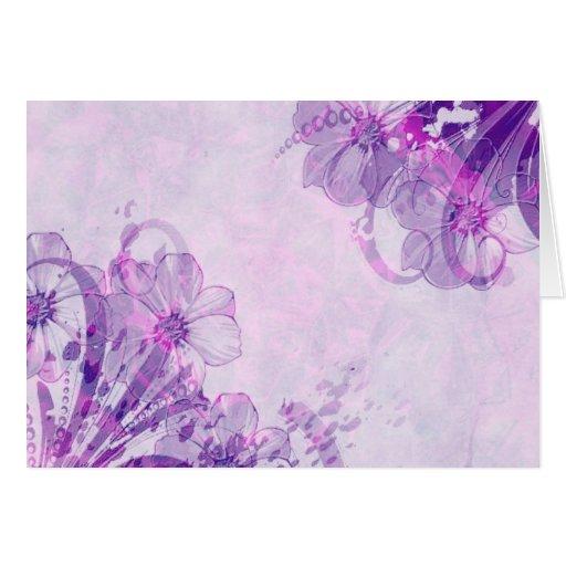 Floral.jpg adaptable púrpura magnífico tarjetón