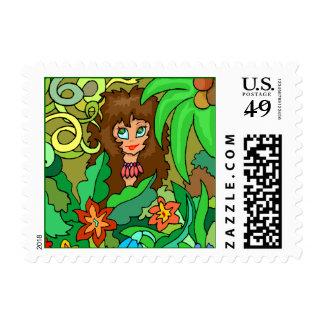 Floral Jungle Garden Gal Safari Girl Camp Stamps
