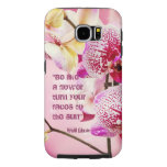 Floral  Kahlil Gibran quote flowers background Samsung Galaxy S6 Cases