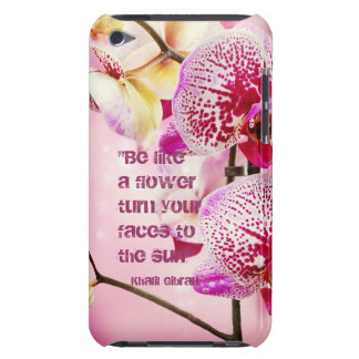 Floral Kahlil Gibran quote flowers background iPod Touch Case