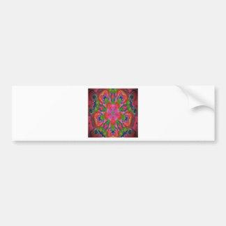 Floral kaleidoscope design image bumper sticker