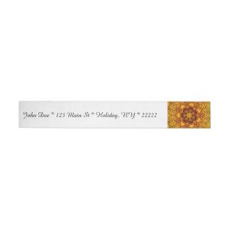 Floral Kaleidoscope Wraparound Address Label