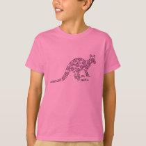 Floral Kangaroo T-Shirt
