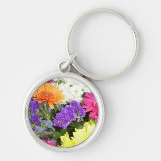 Floral keyring key chain