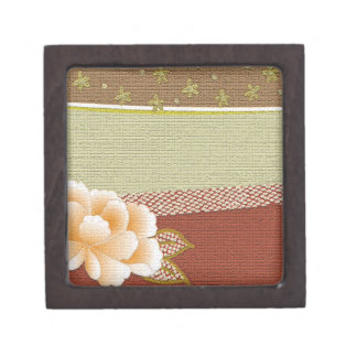 """Floral """"Kimono"""" Design Gift Box Premium Trinket Boxes"""