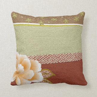"""Floral """"Kimono"""" Design Throw Pillow"""