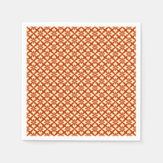 Floral kimono print, mandarin orange napkin