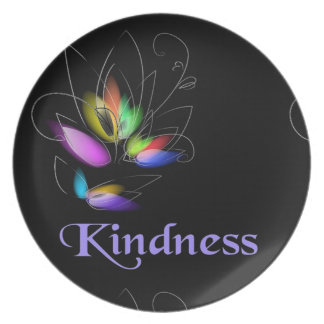 Floral Kindness Party Plates