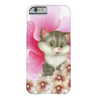 'Floral Kitten phone case' Barely There iPhone 6 Case