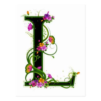 Floral L Post Cards