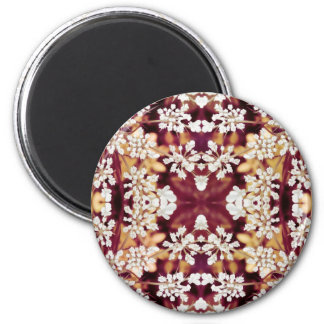 Floral Lace 2 Inch Round Magnet