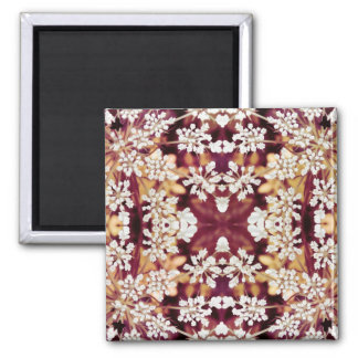 Floral Lace 2 Inch Square Magnet