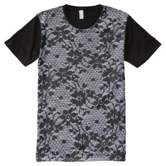 Floral Lace All-Over Print T-shirt