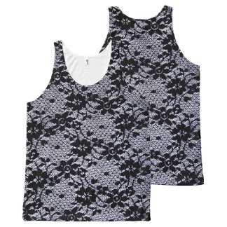 Floral Lace All-Over-Print Tank Top