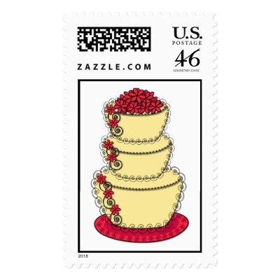 Buttercream Lace Wedding Cake Postage