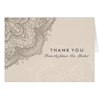 Floral Lace | Cream Thank You Card