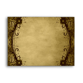 Floral Lace Envelope (A7 Greeting Card)