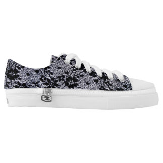Floral Lace Low-Top Sneakers
