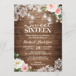 """Floral Lace Mason Jar Lights Sweet 16 Birthday Invitation<br><div class=""""desc"""">Floral Lace Mason Jar Lights Sweet 16 Birthday Party Invitation. (1) For further customization, please click the """"customize further"""" link and use our design tool to modify this template. (2) If you prefer thicker papers / Matte Finish, you may consider to choose the Matte Paper Type. (3) If you need...</div>"""