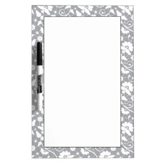 Floral Lace Pattern Dry Erase Whiteboards