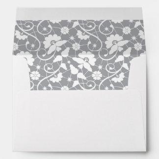 Floral Lace Pattern Envelope