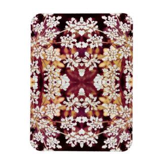Floral Lace Rectangular Photo Magnet