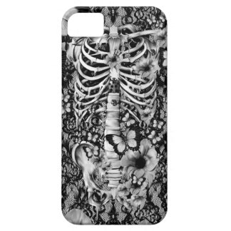 Floral lace skeleton with butterflies iPhone 5 case