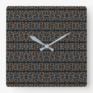 Floral Lace Stripes Print Pattern Square Wall Clock
