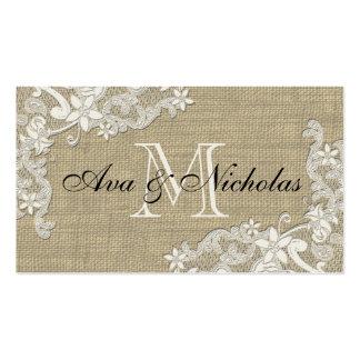 Floral Lace Style Design place card