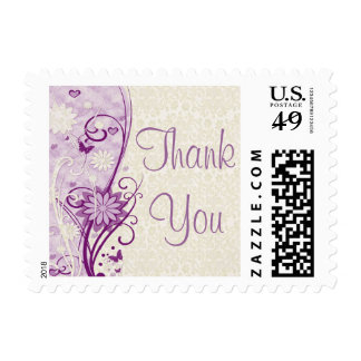 Floral & Lace Thank You Stamp (Small)