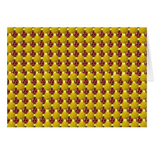 Floral Ladybugs Greeting Card