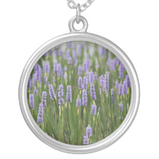Floral Lake Round Pendant Necklace