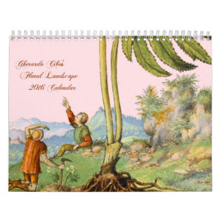 Floral Landscape Art 2016 Calendar