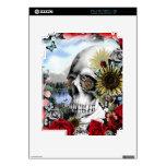 Floral landscape skull iPad 2 skins