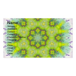 Floral Landscape Watercolor Mandala Double-Sided Standard Business Cards (Pack Of 100)
