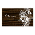 Floral Landscaping Business Card Wood Dark
