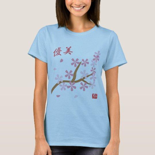Floral language of Sakura T-shirt