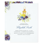 Floral Lantern Yellow and Blue Baby Showery Card