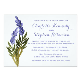 Floral Lavender Flower Purple Wedding Invitation