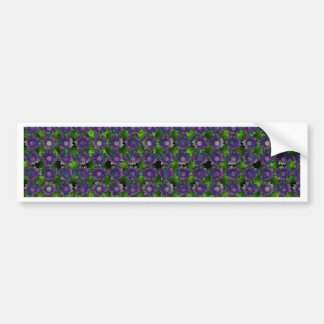 Floral Lavender Pattern Bumper Sticker
