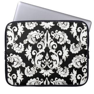 Floral Leaf Damask Tattered Lace Pattern Case Laptop Sleeve