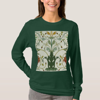 Floral Leaf Swirl Vector Pattern T-Shirt