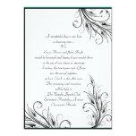 "Floral Leaf Wedding Invitations 5"" X 7"" Invitation Card"