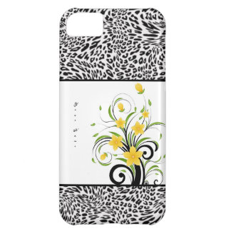 Floral Leopard iphone Case Cover For iPhone 5C