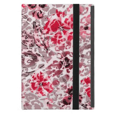 Floral ,leopard,Red and white , red, white, spotte Case For iPad Mini