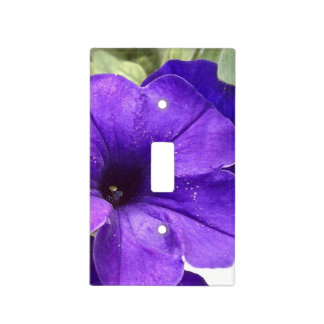 floral light switch cover - purple