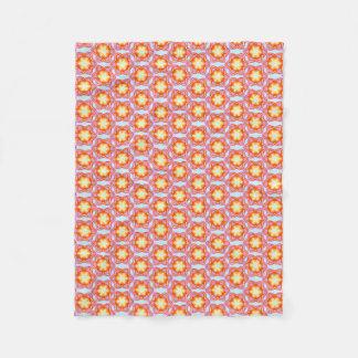 Floral Like Tropical Pinky Design Fleece Blanket