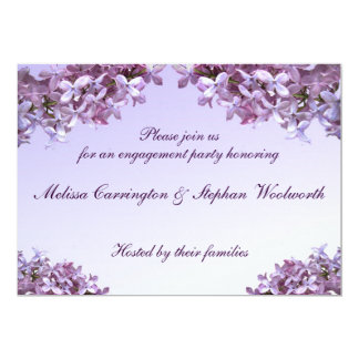 Floral Lilac Flowers Engagement Party Card