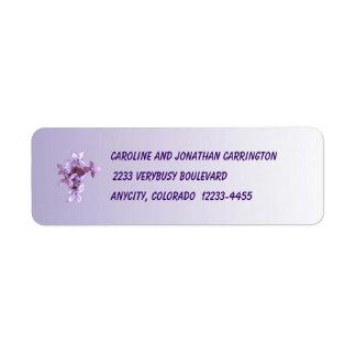 Floral Lilac Flowers Label